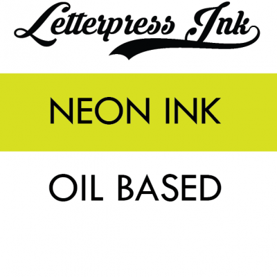 Letterpress Neon Ink Individual